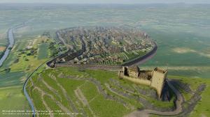 Mittelalterliche Stadt Freiburg um 1200 von Hans-Juergen van Akkeren_2019_2560x1440