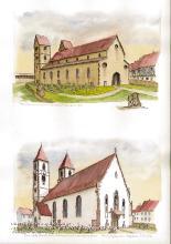 Rekonstruktionszeichnungen der mittelalterlichen Festungsstadt Kenzingen