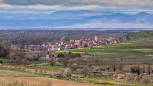 Burkheim von Bischoffingen am Hüttenberg aus gesehen