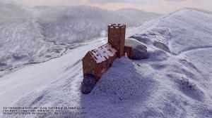3D-Rekonstruktion Burg Kirnburg von Hans-Jürgen van Akkeren 2021 Nordansicht