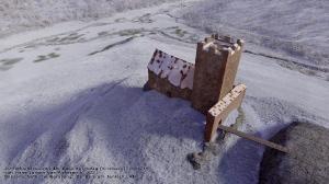 3D-Rekonstruktion Burg Kirnburg von Hans-Jürgen van Akkeren 2021 Westansicht