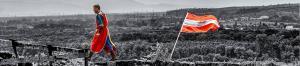 Habstburgische Flaggenparade auf der Ruine Lichteneck