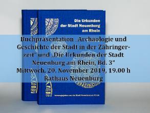 Buchpräsentation Die Urkunden der Stadt Neuenburg a. R. Band 3 am 20.11.2019