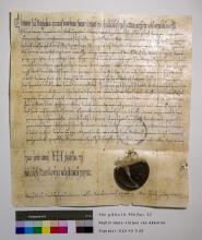 Faksimile der Urkunde Otto III. 994 Dez. 22