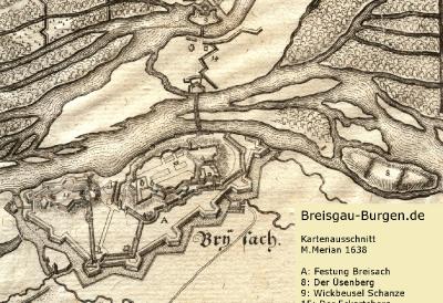 Festung Breisach 1638 - M. Merian